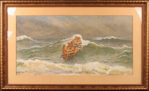 R.H. BURFOOT LIFEBOAT IN WAVES