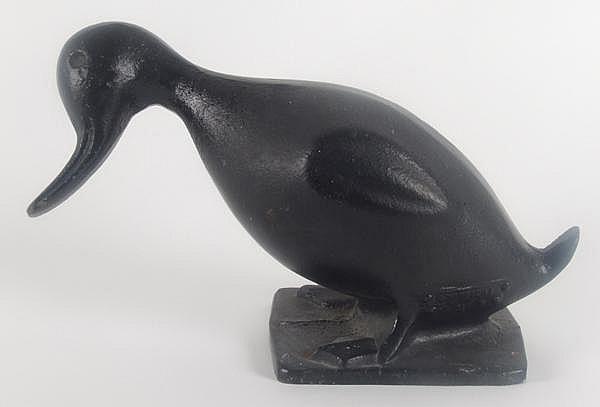 VINTAGE DUCK DOORSTOP. Vintage cast iron duck