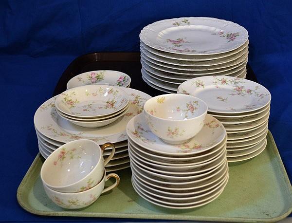 THEODORE HAVILAND \'\'LUCILLE\'\' DINNERWARE PLUS LOT 48 PIECES.
