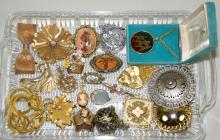 ASSORTED COSTUME JEWELRY - Including Austria, BED, Monet and others - Condition: Age appropriate wear; All items sold as is.