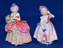 (2) ROYAL DOULTON FIGURINES - ''Babie'' - HN1679, 4.75''H and ''Cissie'' - HN1809, 5''H - Condition: Age appropriate wear; All items are sold as is.
