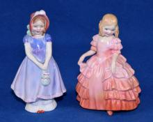 (2) ROYAL DOULTON FIGURINES - ''Rose'' - HN1368, 4.5''H and ''Ivy'' - HN1768, 5''H - Condition: Age appropriate wear; All items are sold as is.