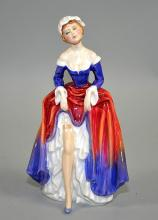 1988 ROYAL DOULTON ''PHYLLIS'' HN3180 - signed; 7.5''H - Condition: Age appropriate wear, all items sold as is.