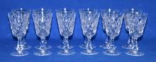 (12) WATERFORD CRYSTAL 5'' CLARET GLASSES - Condition: Age appropriate wear; All items sold as is.