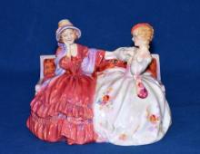 ROYAL DOULTON FIGURINE ''THE GOSSIPS'' HN# 2025 - Condition: Age appropriate wear; All items are sold as is.