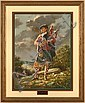 ROBERT GRIFFING (PA 1940- ) 'Major Grant's Piper', lithograph, signed and numbered 35/750. Comes with certificate of authenticity. Contained in matted wood frame under glass. Condition: no visible defects. Dimensions: 24 1/2'' X 18 1/4'', frame 34'', Robert Griffing, Click for value