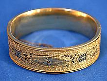 GOLD FILL MOURNING BRACELET  Gold fill and black enamel bracelet. Mark, 1/2o. 10K gold fill. Condition all jewelry sold as is. (L#277)