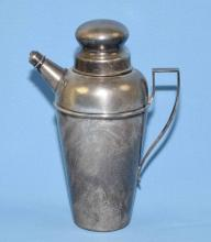 STERLING COCKTAIL SHAKER, W.W. Wattles & Sons 9.75''H, 18.23 ozt. Condition: Age appropriate wear; All items sold as is.