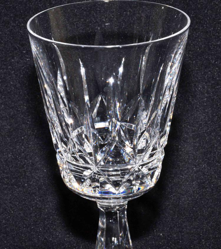 WATERFORD CRYSTAL, (11) Lismore stemware water glasses, 7''H
