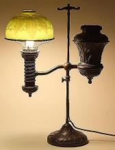tiffany studios student lamp with cameo favrile glass shade tiffany studios bronze student lamp
