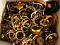 BIN OF BANGLE BRACELETS. Condition: all jewelry sold as is.