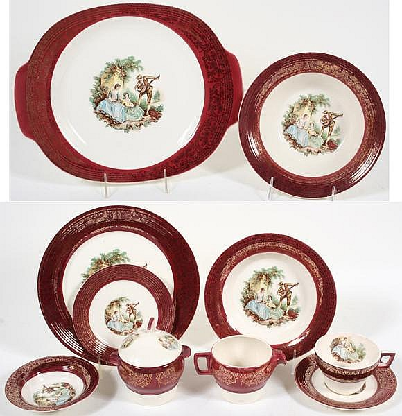SEBRING SERENADE DINNERWARE 51 PIECES. Sebring Pottery Co. dinnerware \u0027\u0027Serenade\u0027\u0027  sc 1 st  Invaluable & SEBRING SERENADE DINNERWARE 51 PIECES. Sebring Pottery Co. d