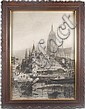 BERNHARD K.J. MANNFELD (German 1848-1925) View of Frankfurt, engraving, signed Mannfeld in plate and dated 1895. Contained in oak frame with applied molding. Condition: no visible defects, wear to frame. Dimensions: 29 1/2'' X 21 1/4'', frame 36'' X, Bernhard Mannfeld, Click for value