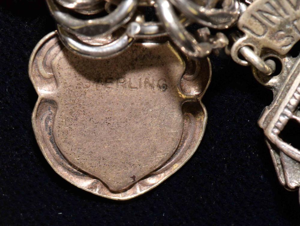 Sterling slide clasp vintage bracelet