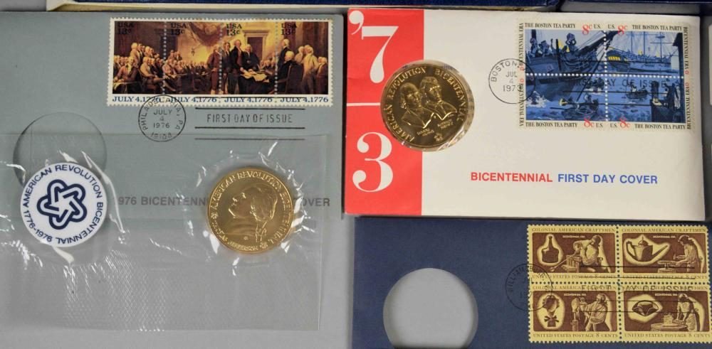 MEDAL COLLECTION OF (11) BRONZE U S  AND BICENTENNIAL MEDALS