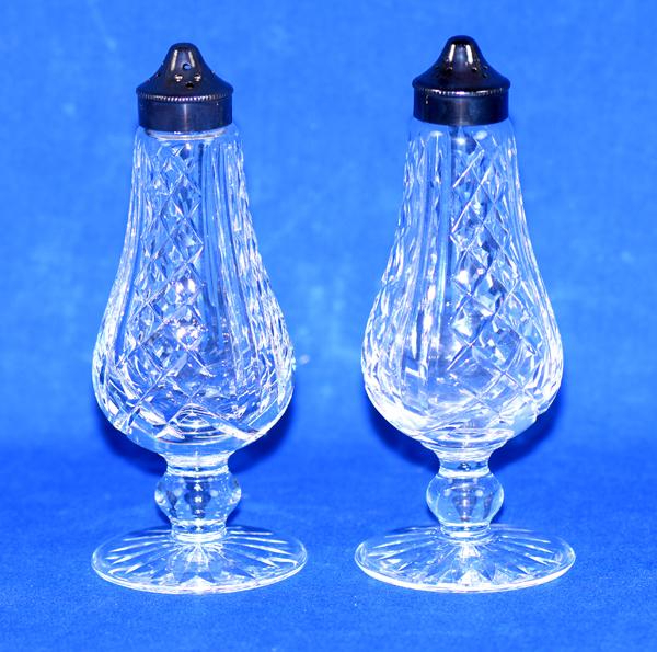 Waterford Crystal Salt Pepper Shakers Waterford Acid Mark On