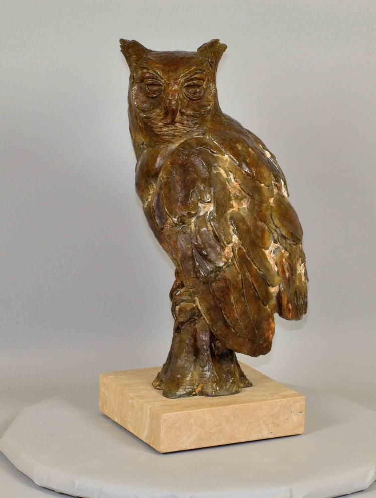 ROD ZULLO (AMERICAN/MT/CO, b. 1965) BRONZE ''LENORE'' - Signed ''Zullo 1/3 AP''; Measures: 22''H x 13''W; Provenance: Purchased from Rod Zullo in 2008 for $6,000.