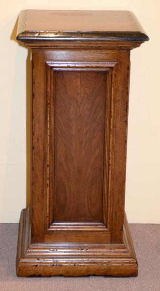 David Michael Walnut Display Pedestal Measures 39 39 39 H X 19