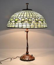 TIFFANY POMEGRANATE THREE LIGHT TABLE LAMP