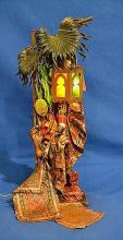 BERGMAN AUSTRIAN COLD PAINTED BRONZE ARAB RUG MERCHANT LAMP