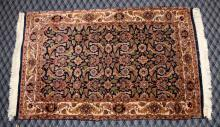 INDIAN PERSIAN DESIGN RUG, 2'5'' x 3'10''. Condition: Age appropriate wear. All items are sold as is.