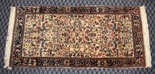 INDIAN PERSIAN DESIGN RUG, 2'2'' X 4'7''. Condition: Age appropriate wear. All items are sold as is.