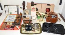 SHELF LOT ASST. COLLECTIBLES - Includes Heinz bottle radios, Flora and Fauna of the World book and more - Condition: Age Appropriate Wear, all items sold as is.