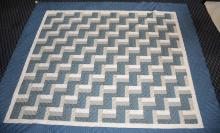 AMERICAN QUILT. 7'8''H x 6'8''W. Condition: Age appropriate wear; All items sold as is.