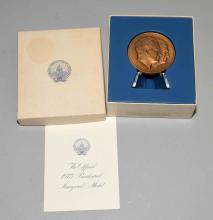 FRANKLIN MINT - OFFICIAL 1973 PRESIDENTIAL INAUGURAL MEDAL, in original box, excellent condition.