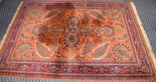 ORIENTAL RUG, 66''W x 96''L. Condition: Age appropriate wear. All items sold as is.