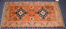 INDO CAUCASIAN KAZAK RUG, 2.2' x 4.9'.