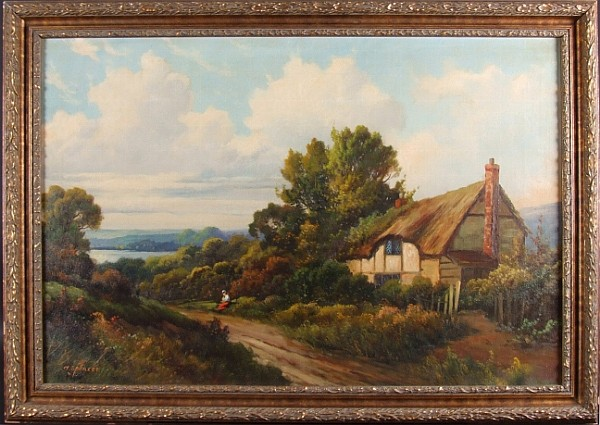 AUGUSTUS SPENCER COTTAGE SCENE