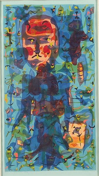 RUSSELL GOULD TWIGGS SERIGRAPH
