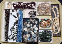 14pcs ASSORTED BEADED COSTUME JEWELRY - Condition: Age appropriate wear; All items sold as is.
