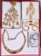 7pc ASSORTED TRIFARI JEWELRY - Condition: Age appropriate wear; All items sold as is.