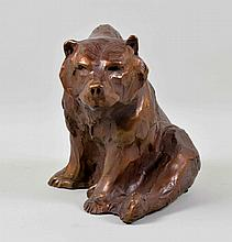 SANDY SCOTT (AMERICAN, b. 1943) BRONZE COPPER COLOR BEAR - Signed ''Sandy Scott 97 4/65'' and artist stamp; Measures: 9''H x 13''W x 8''D; Provenance: From the Estate Collection of Robert B Fay Jr.