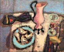 """Nicolas Issaev """"Still life with oysters"""" 1930-th"""