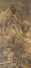 Shen Zhou, Chinese Painting明代-沈周 雪景山水絹本(雙套盒)