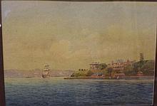 Fred Elliot (1864-1949) watercolour Sydney harbour
