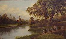 Large Victorian oil on canvas signed F Lynne