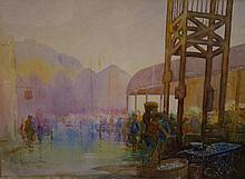 Will Longstaff (1879-1953) market scene