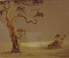 Victor R Watt (1886-1970) watercolour Signed lower