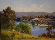 Chris Huber (1936-) The Hawkesbury Oil on