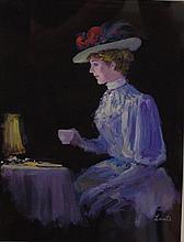 Gerald Lants (1927-1958) Framed watercolour