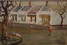 Gerald Lants ( 1927-1958) Watercolour 34 by 50.5