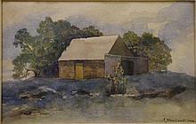 A Woollcott watercolour Measures 17 x 27 cm.