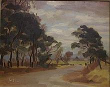 Graeme Inson (1923-2000) near Pitt Town Oil on