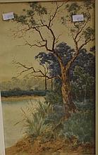Neville Cayley ( 1886-1950) Landscape watercolour
