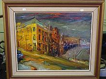 Guido Zuliani (1927-) oil on board. Image approx