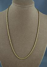 9ct yellow gold chain approx 4.4 grams, approx